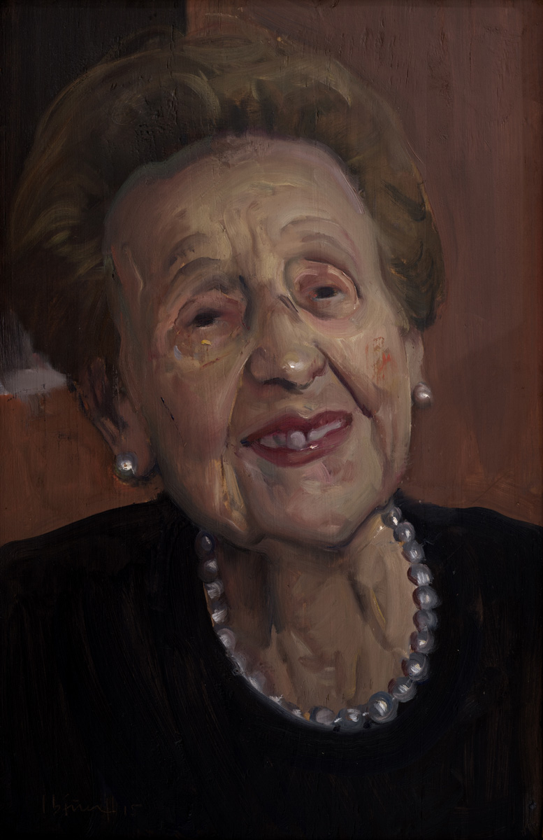 GARCÍA IBÁÑEZ Retrato de doña Paquita 2014 óleo tabla