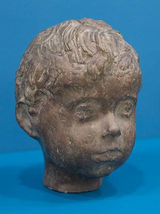 """Antonio Campillo Párraga (Murcia, 1926 – 2009) """"Niño"""". 1970. Bronce. Altura 22 cms."""