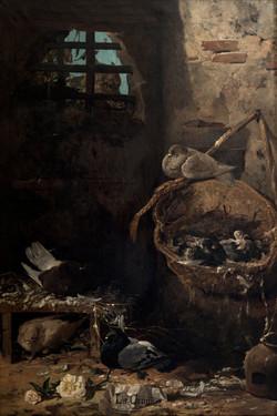 EMILIANO GODOY Al acecho circa 1892 oleo-lienzo