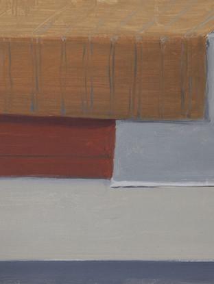 """LUIS PALTRÉ JIMÉNEZ (Cabra, 1958) """"Mesa"""". 2014. Óleo sobre tabla. 34x50 cms."""