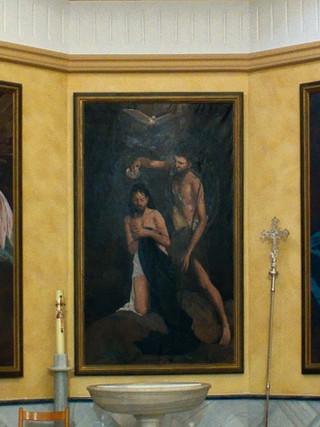 Tríptico para el baptisterio (Bautismo de Cristo y Ángeles)