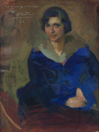 "Luis Muntané Muns (Mataró, 1899 - Barcelona, 1987). ""Matilde"", 1981. Oleo sobre lienzo. 85x62 cms"