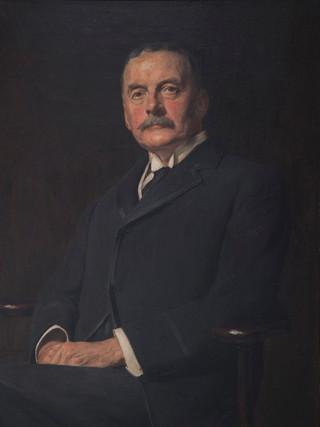 """FERNANDO ÁLVAREZ DE SOTOMAYOR (Ferrol, 1875 – Madrid, 1960) """"Retrato de caballero"""" (1931). Óleo sobre tela, 92x71 cms."""