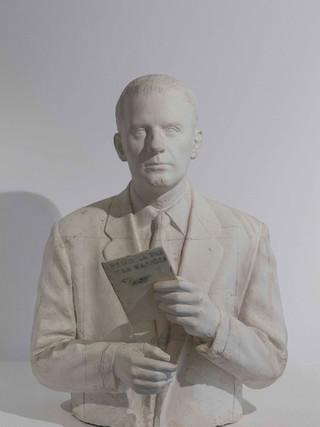"""Francisco López Hernández (Madrid, 1932 - 2017) """"Blas de Otero"""". 2005. Escayola. Altura 51 cms."""