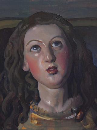 Cabeza de la Virgen restaurada