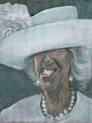 Señora con sombrero blanco II