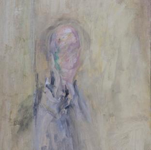 """""""Estudio para retrato amarillo"""" 1984. Óleo sobre tabla 56x43 cms."""
