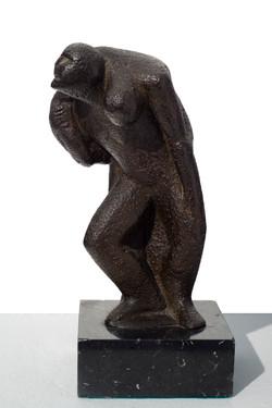 JUAN DE HARO - El herido  (sin fecha). bronce