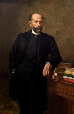 DIAZ MOLINA Retrato de Nicolas Salmeron 1909 oleo-lienzo