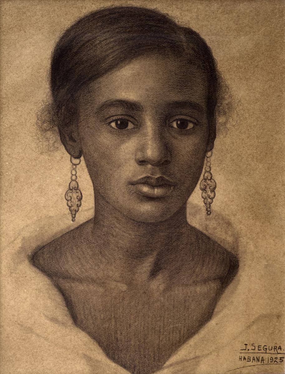 EZQUERRO Mulatita linda 1925 lapiz-papel