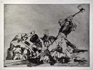 """""""Lo mismo"""". Grabado 3 de la serie Los desastres de la guerra 1810 - 1815. Primera edición (1863) Aguafuerte. Huella 15x20 cm"""