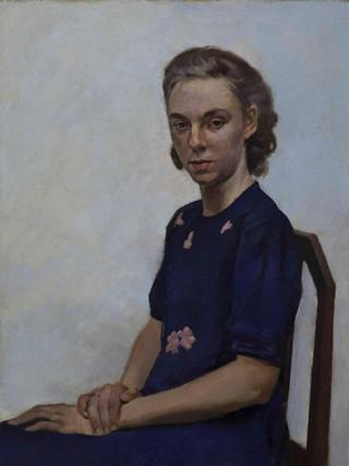 Roberto Fernández Balbuena (Madrid, 1890 – Méjico, 1966). Retrato de mujer. Hacia 1930. Óleo sobre lienzo. 75x50 cms.
