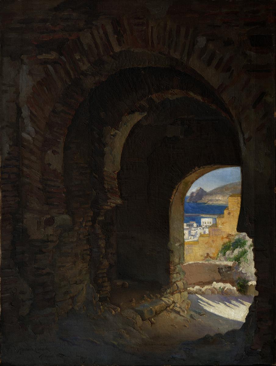 MONCADA Puerta arabe 1921 oleo-lienzo