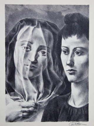 """""""La novia"""" Hacia 1940. Litografía 35 x 25 cm (huella)"""