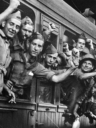 Salida para el frente. 1936