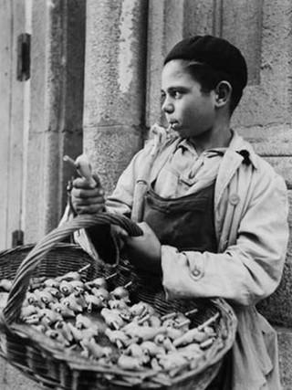 """""""Vendedor de flautas"""". 1952."""