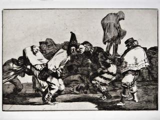 """""""Disparate de carnaval"""". Serie Los Disparates. 1815 - 1823. Primera edición (1864) Aguafuerte. y aguatinta. Huella 21x32 cms."""