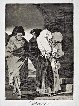"""""""¡Pobrecitas!"""" Grabado 22 de la serie Los Caprichos 1799. Décima edición (1918) Aguafuerte y aguatinta 22 x 15,3 cms. (huella)"""