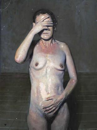 """Golucho (Madrid, 1949) """"Un lugar inacabado"""". 2005. Oleo sobre tabla. 75x112 cms."""