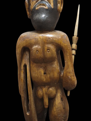 """PEDRO GILABERT GALLEGO (Arboleas, Almería, 1915 – 2008) """"Hércules"""" Hacia 1980. 52x20x15 cms. Madera de olivo tallada"""