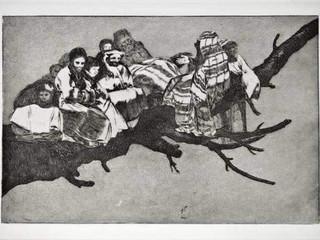 """""""Disparate ridículo"""". Serie Los Disparates. 1815 - 1823. Primera edición (1864) Aguafuerte. y aguatinta. Huella 21x32 cms."""