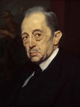 "MANUEL BENEDITO Y VIVES (Valencia, 1875 – Madrid, 1963) ""Don Livinio Stuyck"" (1940). Óleo sobre tela, 48x40 cms."