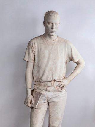 """Francisco López Hernández (Madrid, 1932 - 2017) """"Francesco"""". 1995. Escayola. Altura 202 cms."""