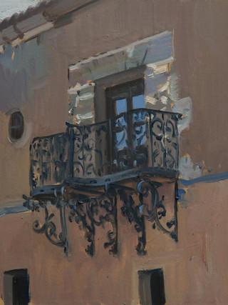 Balcón de la Hospedería del Santuario. El Saliente