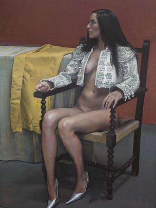 Doncella sentada