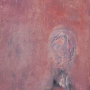 """""""Estudio para retrato rojo"""" 1984. Óleo sobre tabla 56x43 cms."""