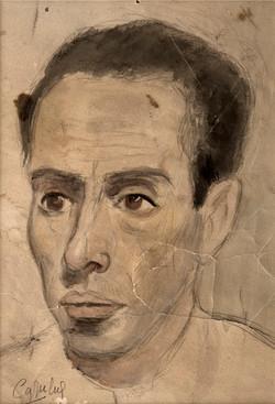 CAPULETO Retrato de mi padre 1942 Acuarela y lapiz-papel