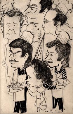BARTOLOME MARIN  Caricatura cocineros