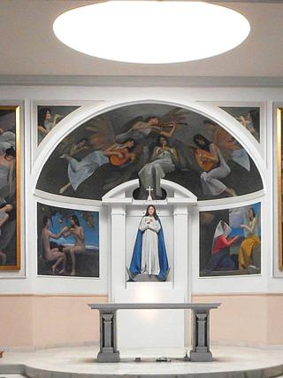 Presbiterio de la iglesia de la Concepción de Albox (Diseño, escultura y pinturas)