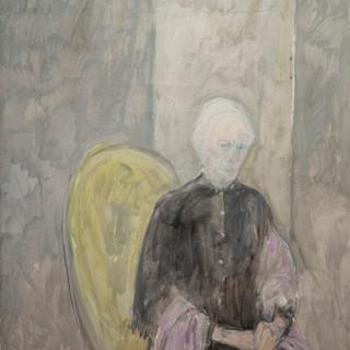 """""""Retrato de doña Candelaria"""" 1989. Óleo sobre lienzo 130x97 cms."""