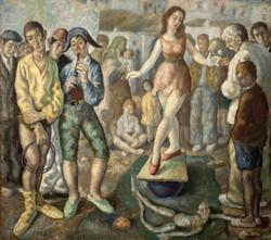 CAPULETO Titeres en la calle 1947 oleo-lienzo