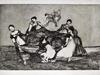 """""""Disparate femenino"""". Serie Los Disparates. 1815 - 1823. Primera edición (1864) Aguafuerte. y aguatinta. Huella 21x32 cms."""