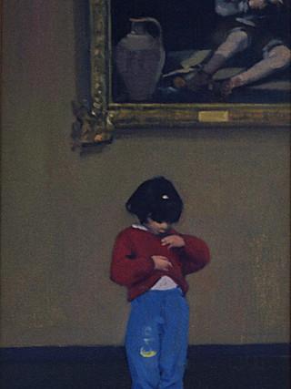 Marisol en el Louvre