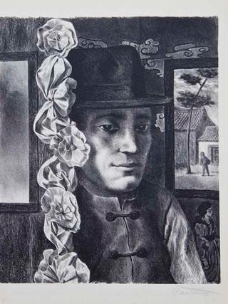 """""""El novio"""" 1947. Litografía 25 x 32 cm (huella)"""
