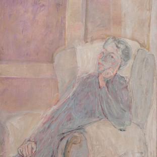 """Retrato de Lucia"" 1989. Óleo sobre lienzo 130x97 cms."