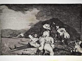 """""""Bien se te está"""". Grabado 6 de la serie Los desastres de la guerra 1810 - 1815. Primera edición (1863) Aguafuerte. Huella 15x20 cm"""