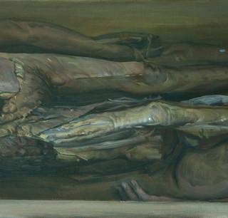 Tres cadáveres humanos