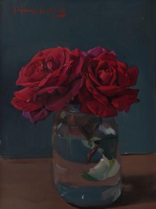 Rosas rojas.