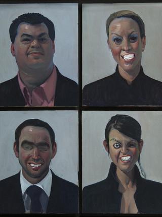 Cuatro vendedores de arte