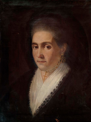"""CÍRCULO DE FRANCISCO DE GOYA """"Retrato de una viuda"""" (1793). Óleo sobre lienzo, 60x50 cms."""