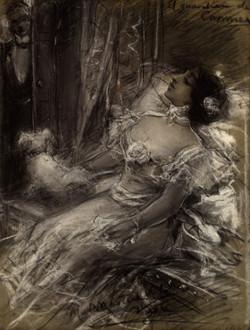 MARTINEZ_DE_LA_VEGA_-_El_guardián_de_Carmen_(c_1890)_Pastel_y_clarión_sobre_papel