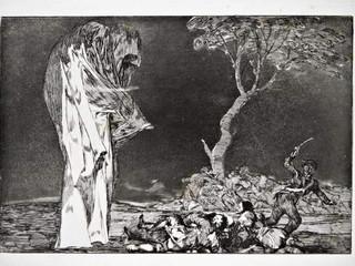 """""""Disparate de miedo"""". Serie Los Disparates. 1815 - 1823. Primera edición (1864) Aguafuerte. y aguatinta. Huella 21x32 cms."""