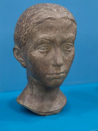 """Antonio Campillo Párraga (Murcia, 1926 – 2009) """"Carmen María"""". 1970. Bronce. Altura 31 cms."""
