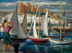 PERCEVAL Almeria alegria del mar 1971 oleo-lienzo