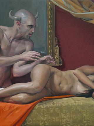 Minotauro y doncella dormida