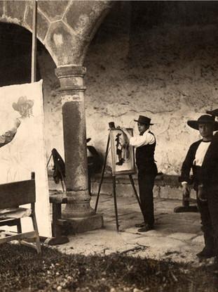 Sorolla pintando en Lagartera,1912